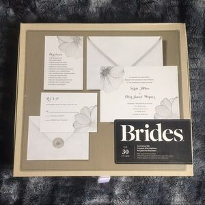 Brides wedding invitations 30 count